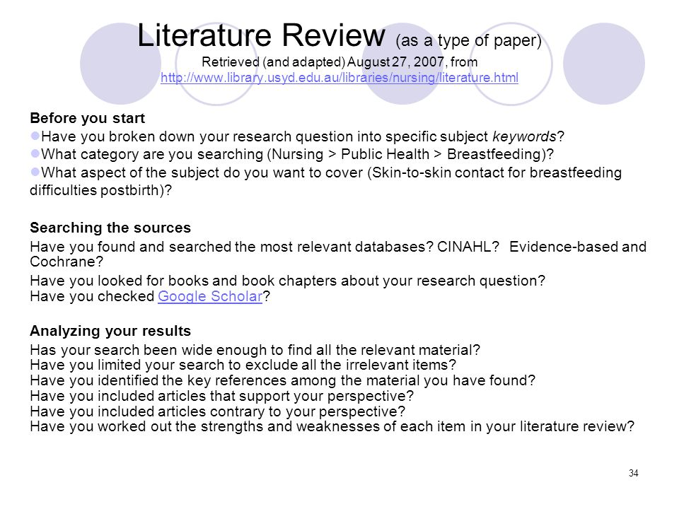 review of literature in nursing research ppt SlideShare