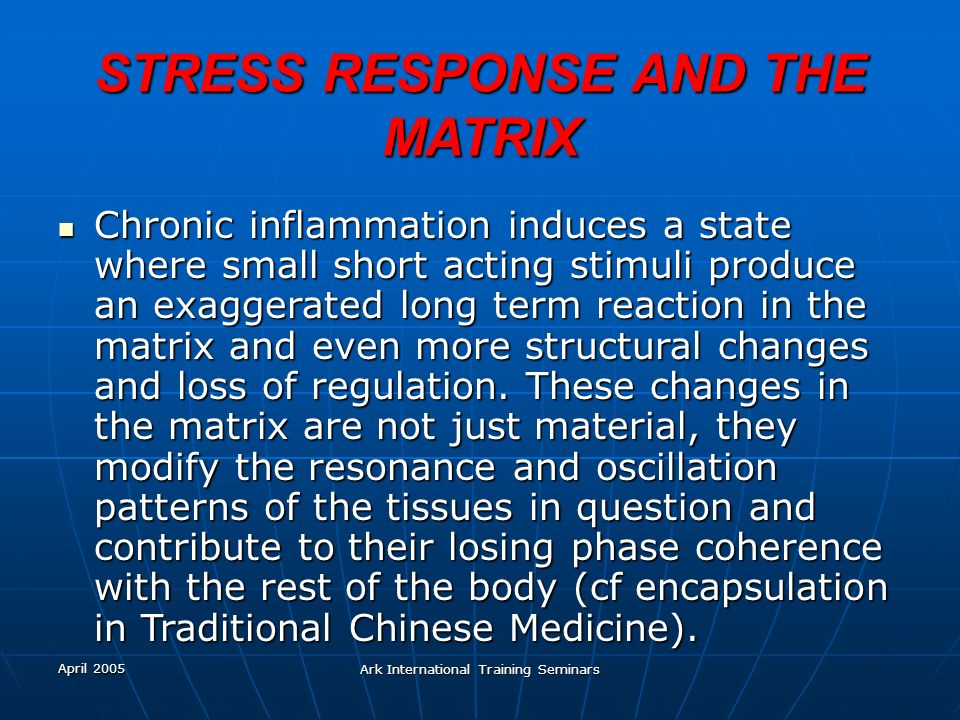 STRESS RESPONSE AND THE MATRIX