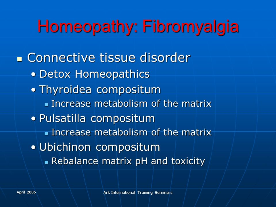 Homeopathy: Fibromyalgia