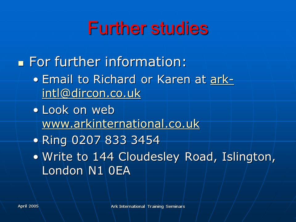 Ark International Training Seminars