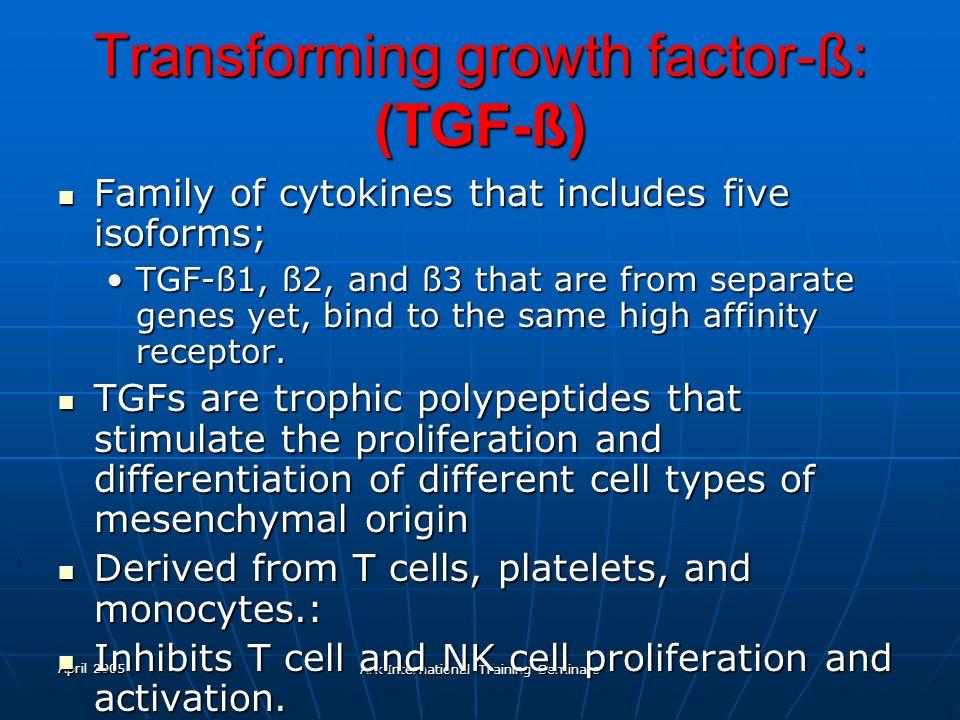 Transforming growth factor-ß: (TGF-ß)