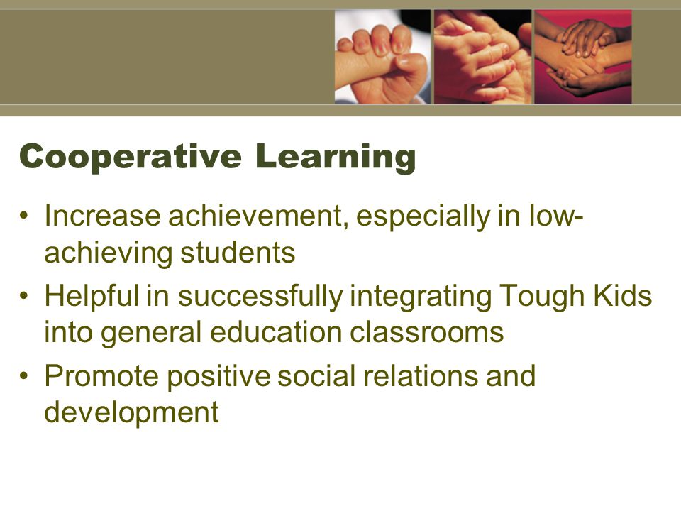 cooperative learning affect students' achievement in The present study is an attempt to identify the impact of using cooperative learning strategy on the achievement of students with math learning disabilities the authors selected two units in the second grade primary mathematics book, then made an achievement test, whose reliability and validity.