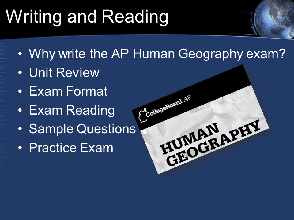 ap human geography exam essay questions About asap human geography: a quick-review study guide for the ap exam like class notes—only better the princeton review's asap human geography is designed to help you zero in on just the information you need to know to successfully grapple with the ap test.