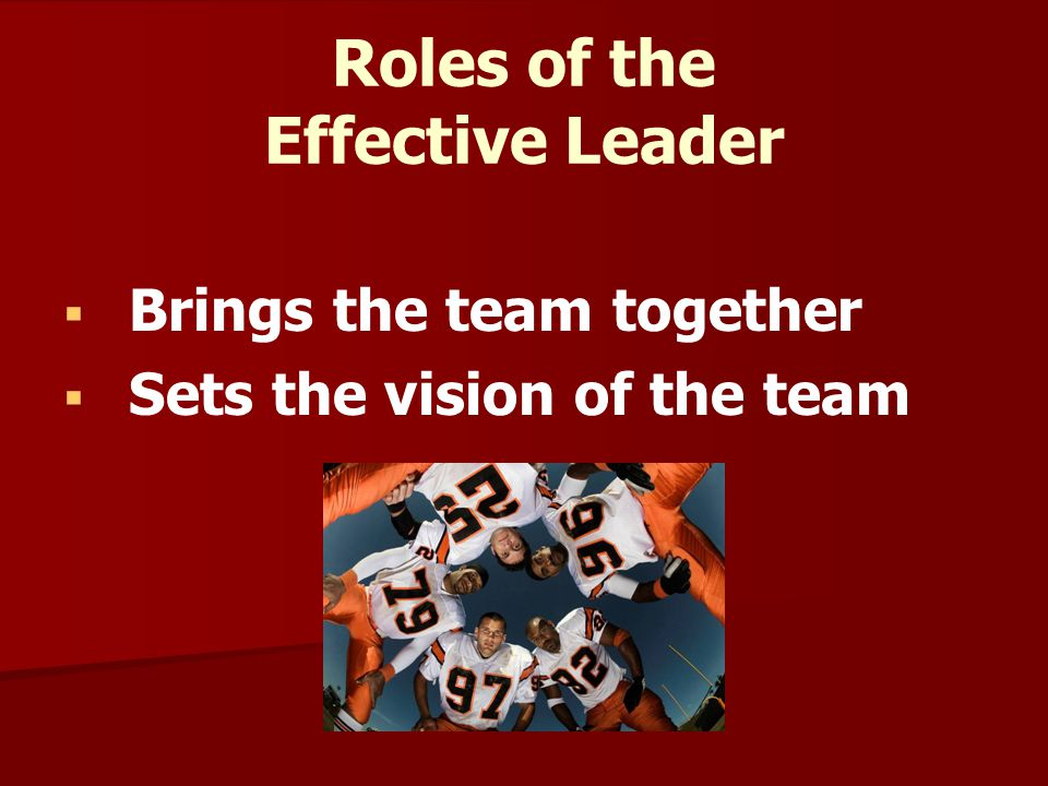 Roles of the Effective Leader