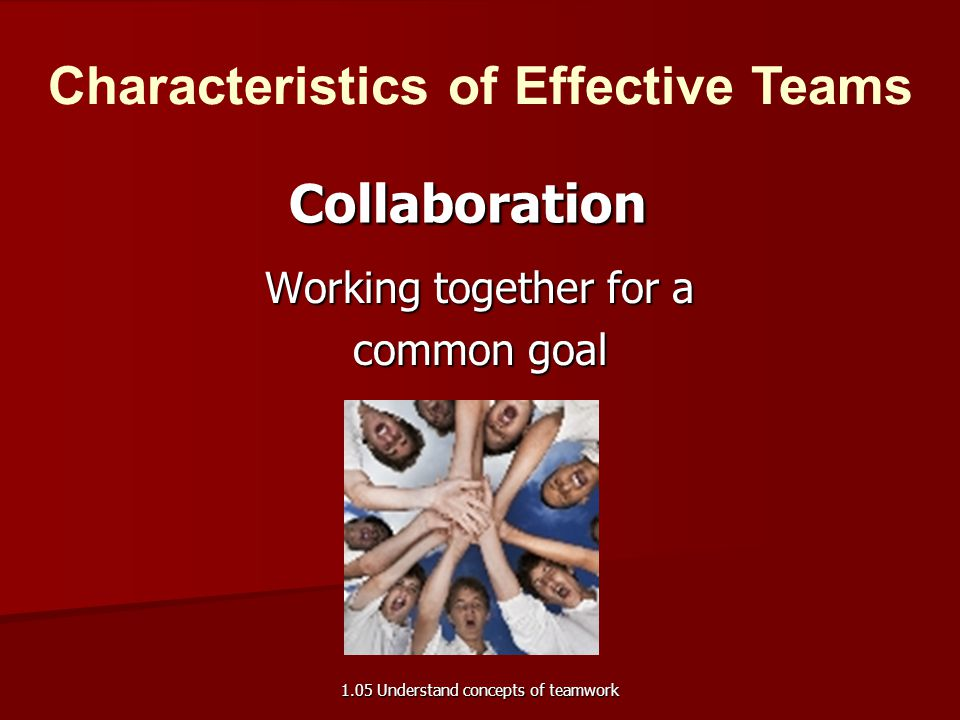 Working together for a common goal