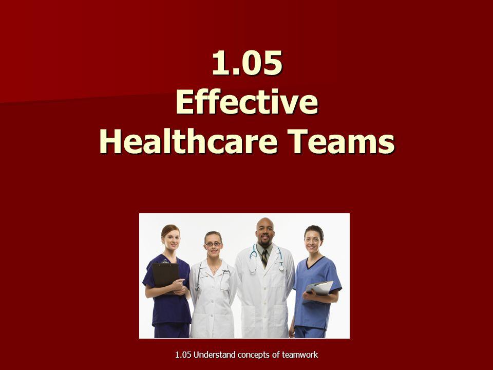 1.05 Effective Healthcare Teams