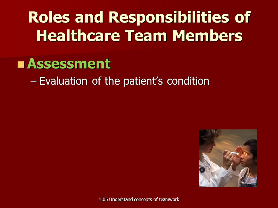 Roles and Responsibilities of Healthcare Team Members