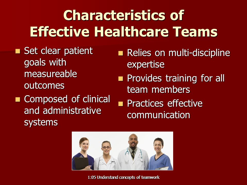 Characteristics of Effective Healthcare Teams