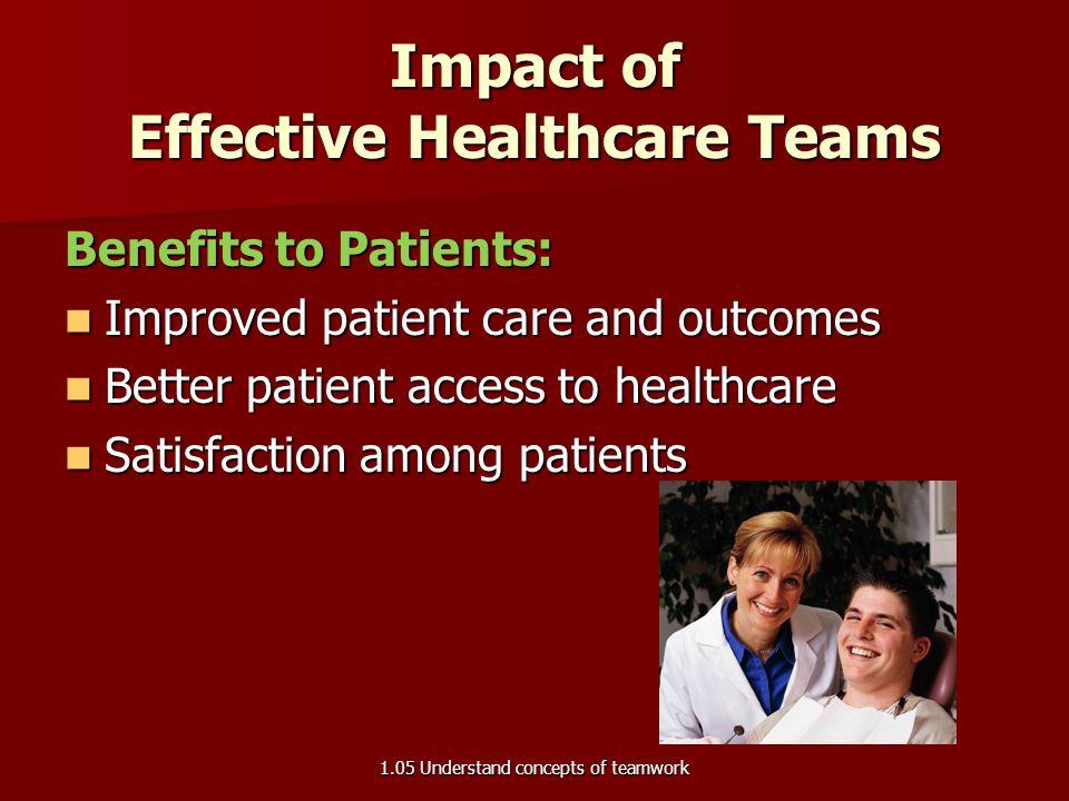 Impact of Effective Healthcare Teams