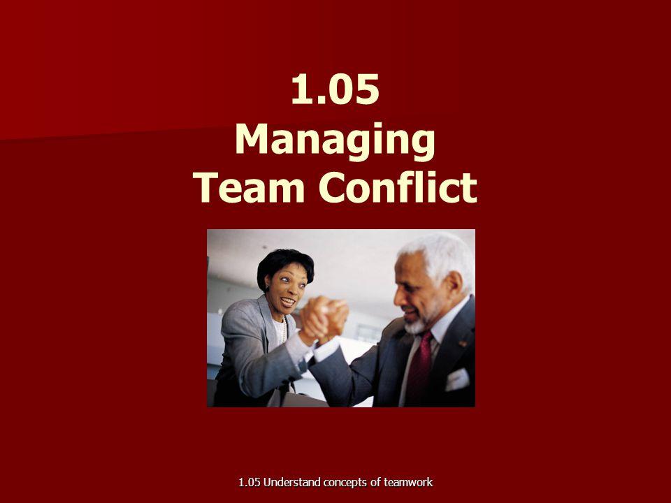 1.05 Managing Team Conflict