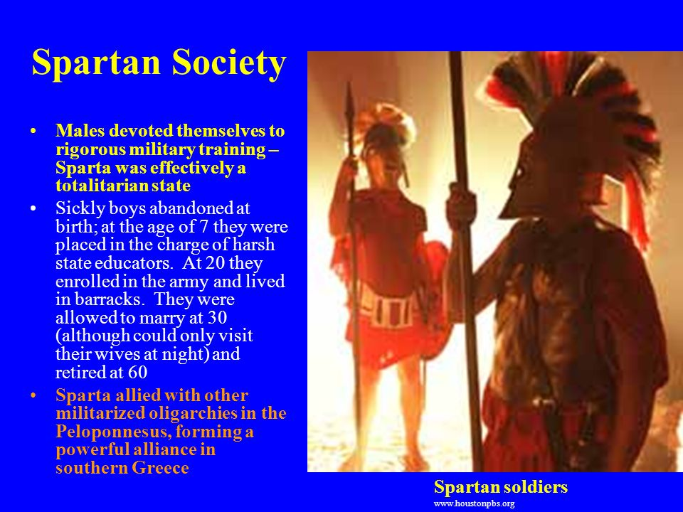 women in spartan society Spartan women lived the same simple life as spartan men their clothes didn't have a lot of decoration and they wore no jewelry or cosmetics they were expected to be.