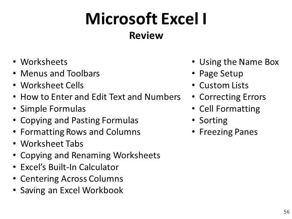 Microsoft Excel I Ppt Download