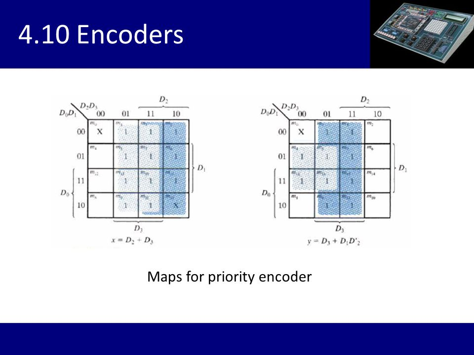 4.10 Encoders Maps for priority encoder