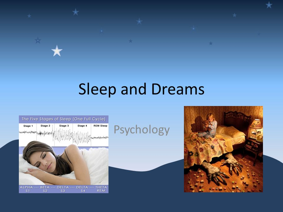 1 Sleep And Dreams Psychology