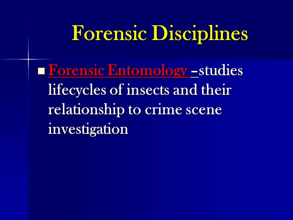 forensic entomology cases studies Course outline prospectus evaluation career faqs case studies  the  earliest best-known and recorded case of forensic entomology comes from the.