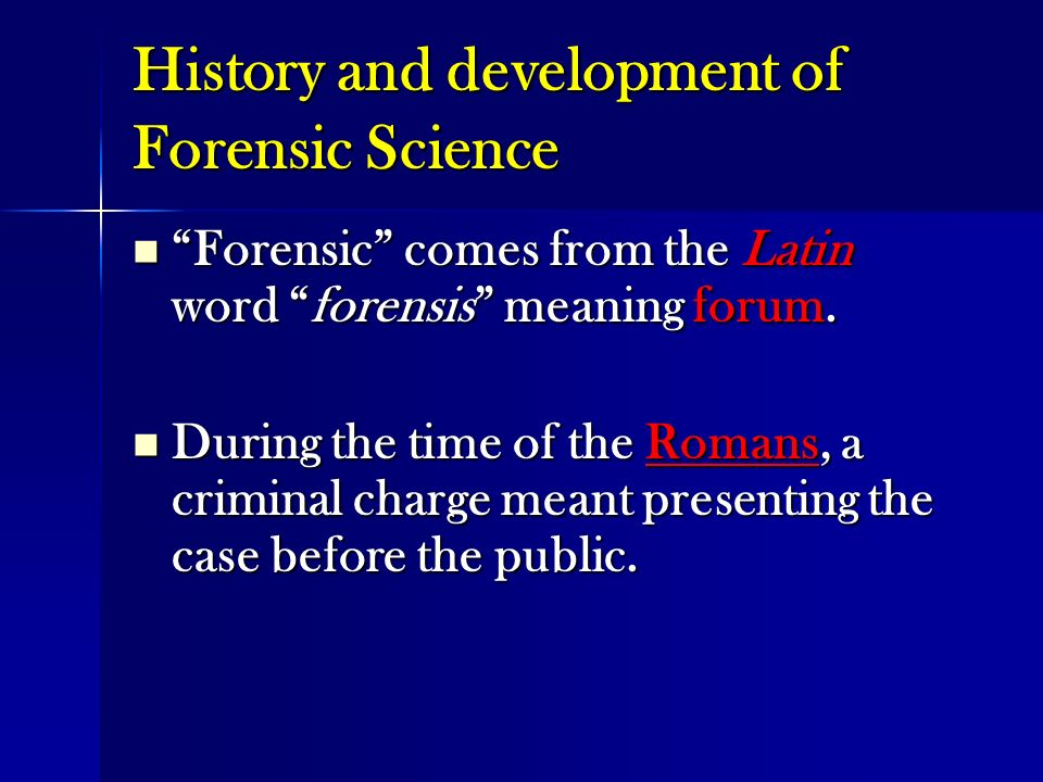 an introduction to the definition and origins of the word forensic Forensic definition, pertaining to, connected with, or used in courts of law or public discussion and debate word origin and history for forensic expand.