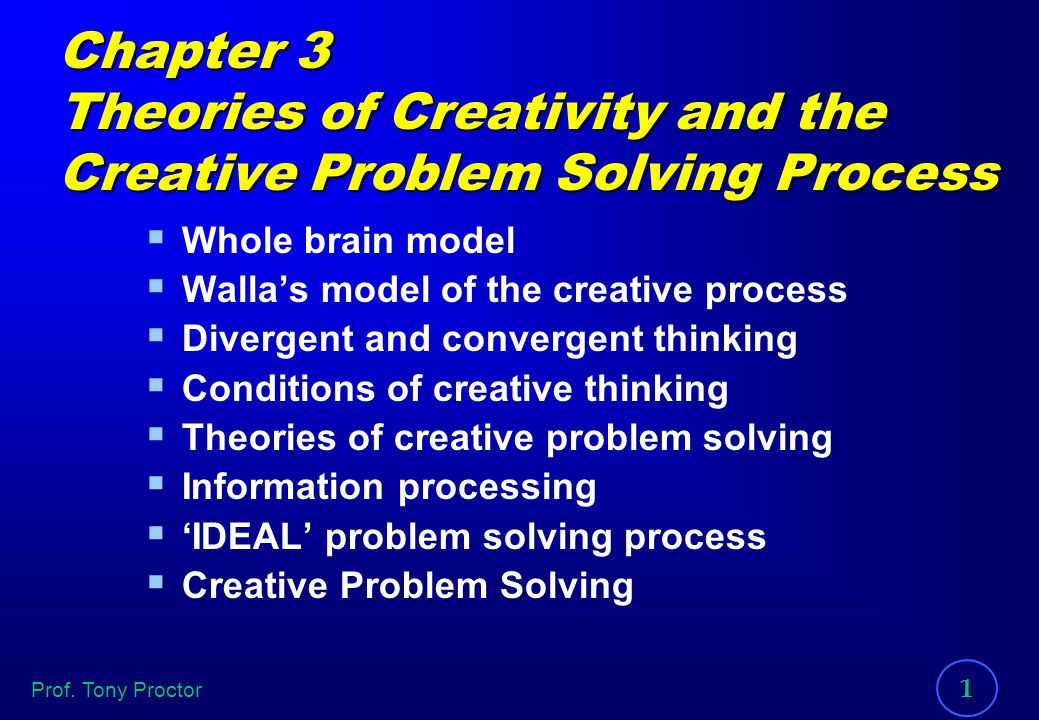 creative problem solving theories