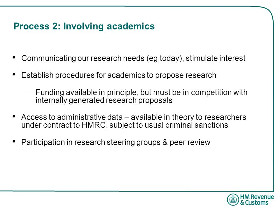 Process 2: Involving academics