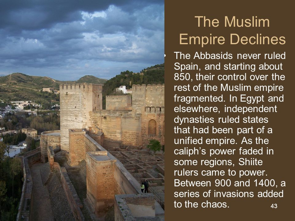 muslim empire in spain The umayyads saw a great expansion of islamic empire and were responsible for building a so the umayyad caliphate was and spain was under muslim.