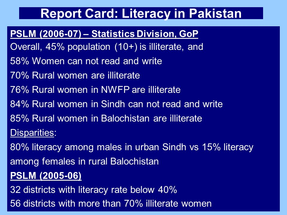 India falls short in female literacy