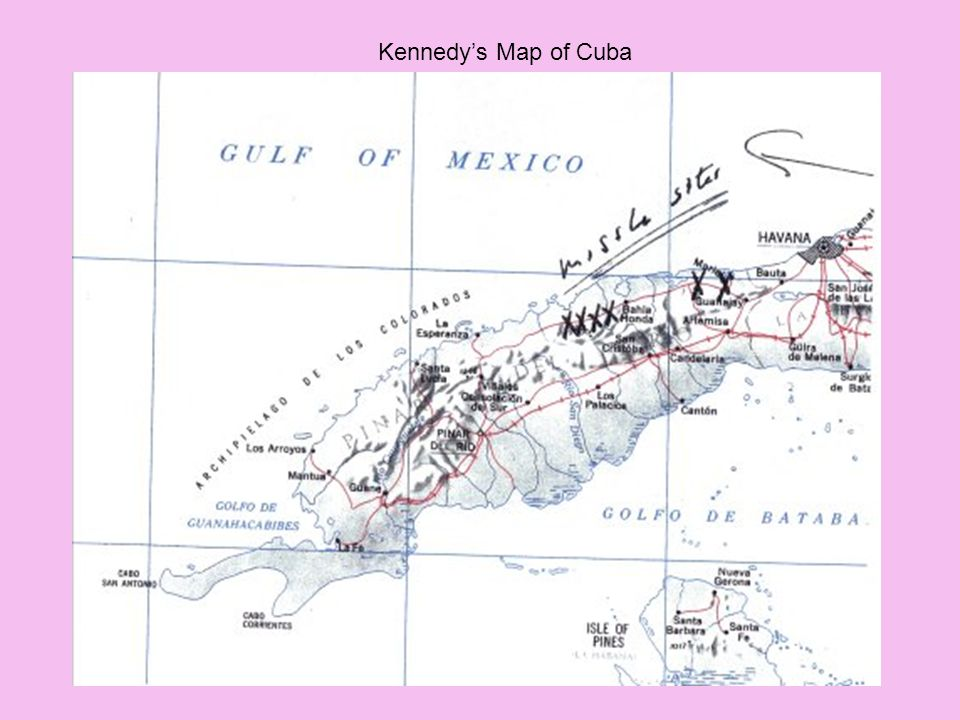 Kennedy's Map of Cuba