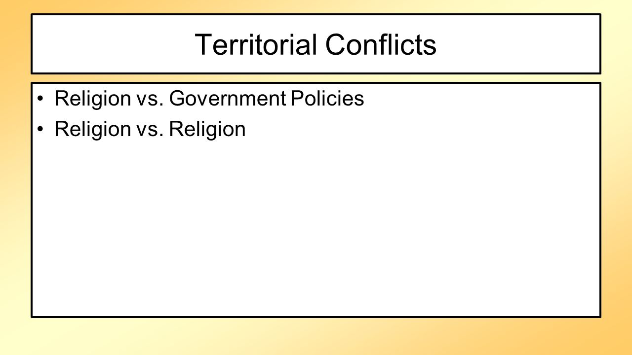 Territorial Conflicts
