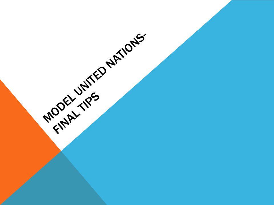 model united nations- final tips - ppt video online download, Presentation templates