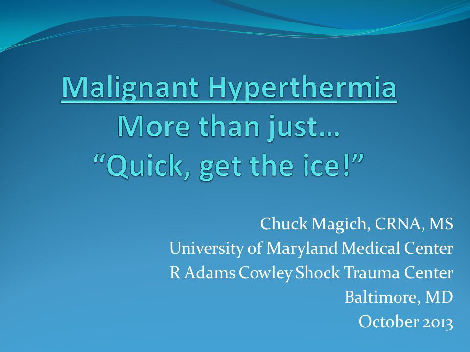 malignant hyperthermia drill video