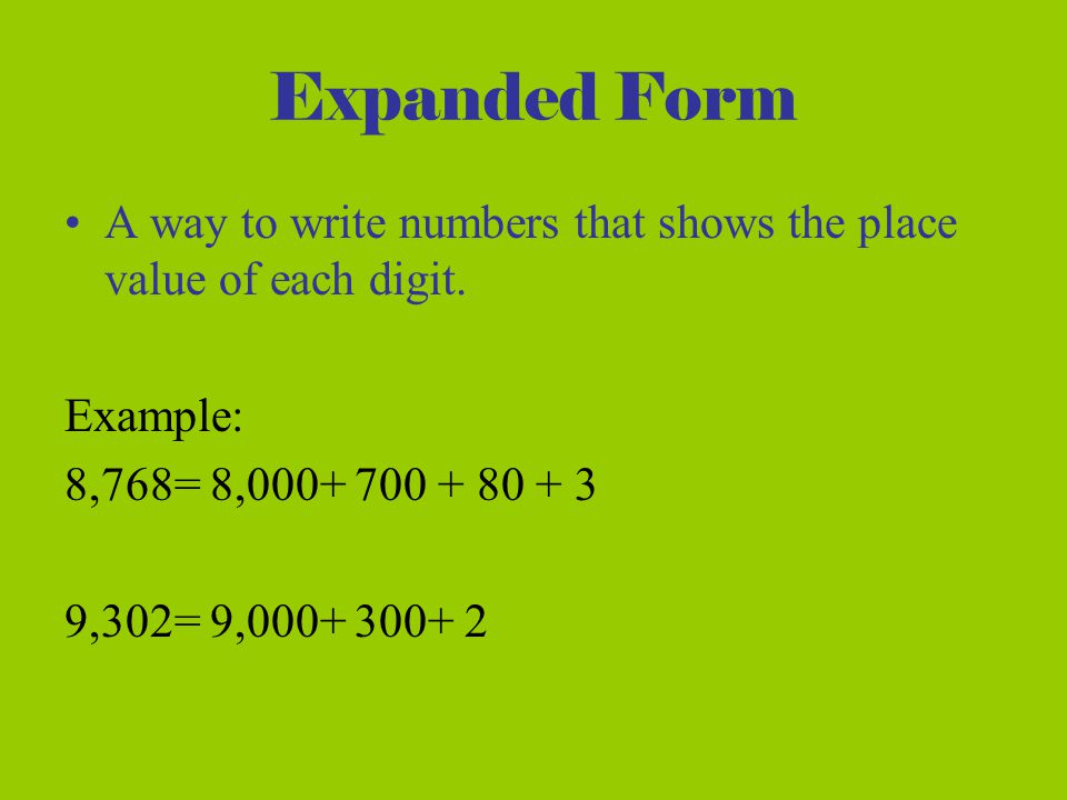 Expanded Form Of A Number Example Nurufunicaasl