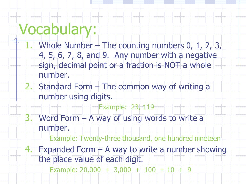 9 7 Reading Writing Whole Numbers Ppt Download