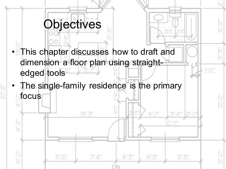 Drafting and Dimensioning the Architectural Floor Plan - ppt video ...