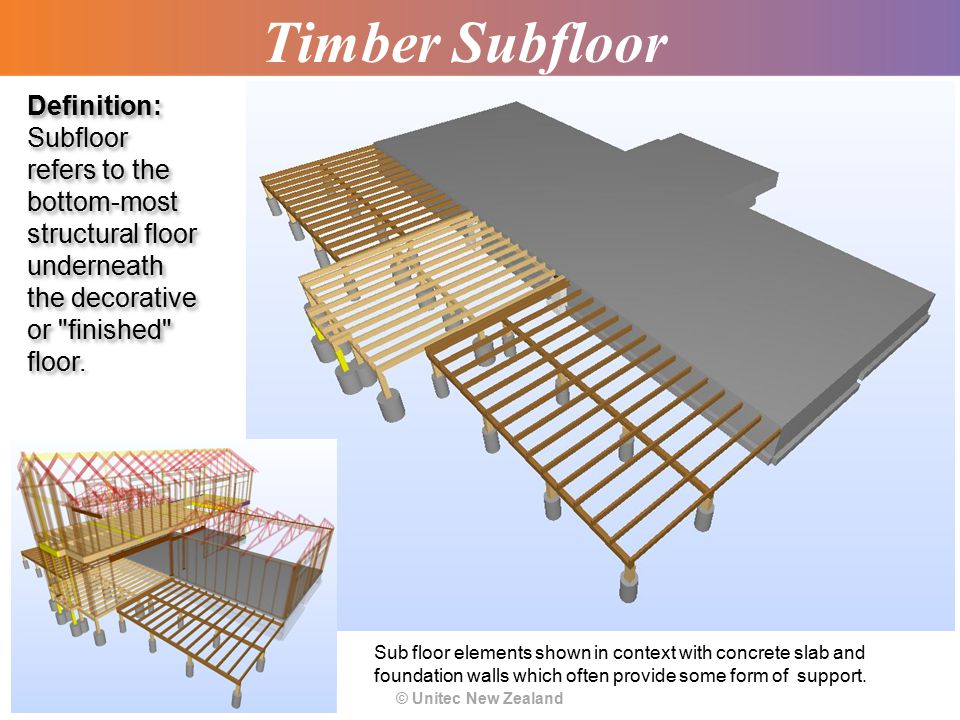 Topic 7 timber subfloor systems basic ppt video for Floor definition
