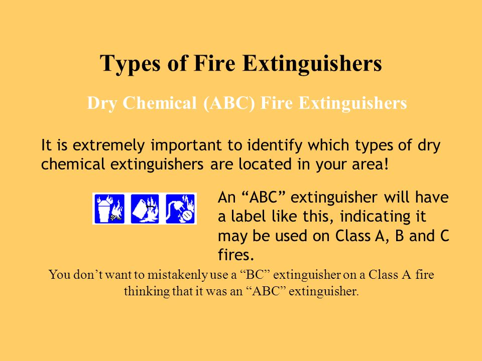types of fires and fire extinguishers pdf