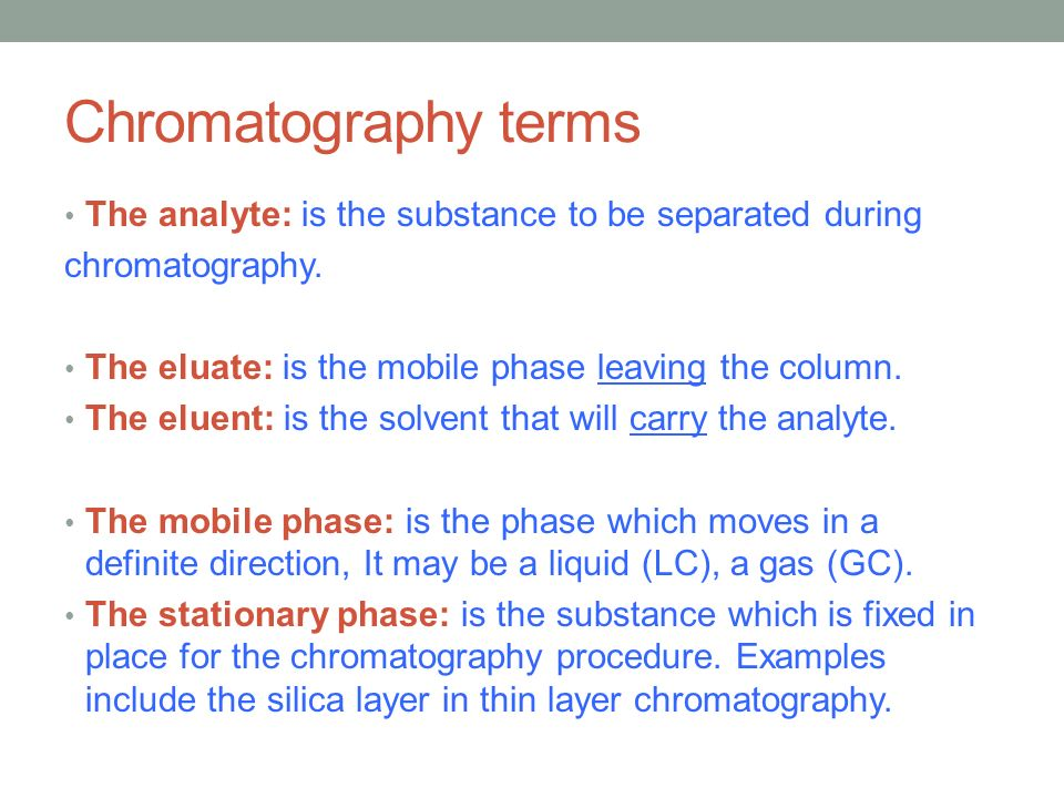 how to carry out chromatography