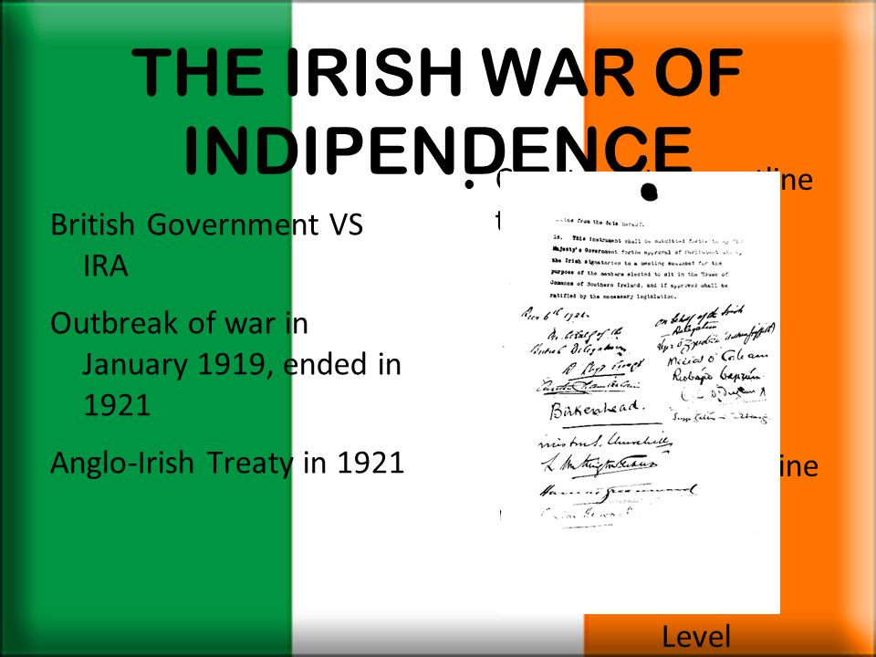 THE IRISH WAR OF INDIPENDENCE