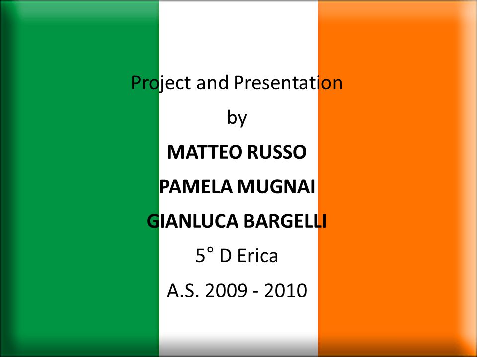 Project and Presentation