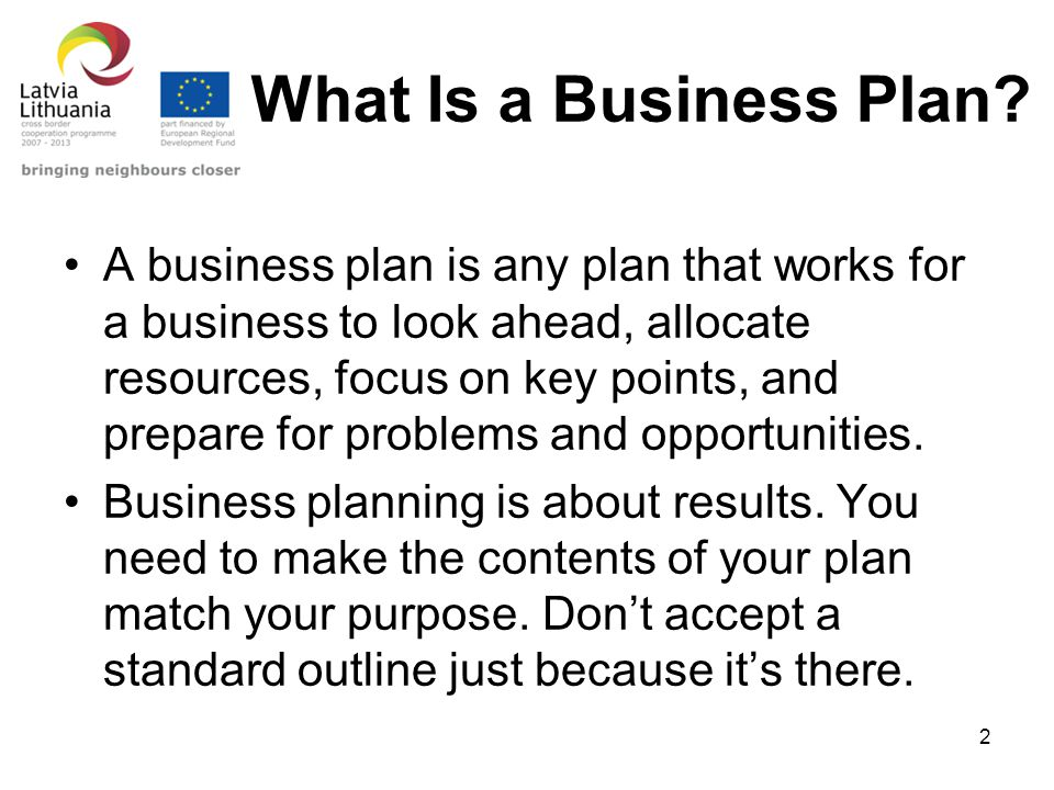 What is a business plan and why is it needed