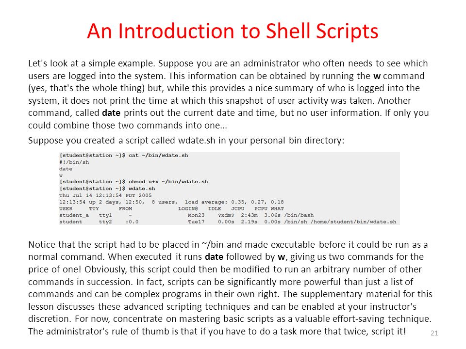 Workbook 6 The Bash Shell - ppt download
