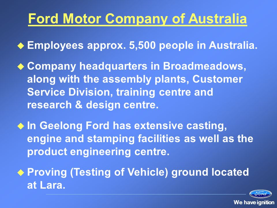 Human resources at ford ppt video online download for Ford motor company customer service