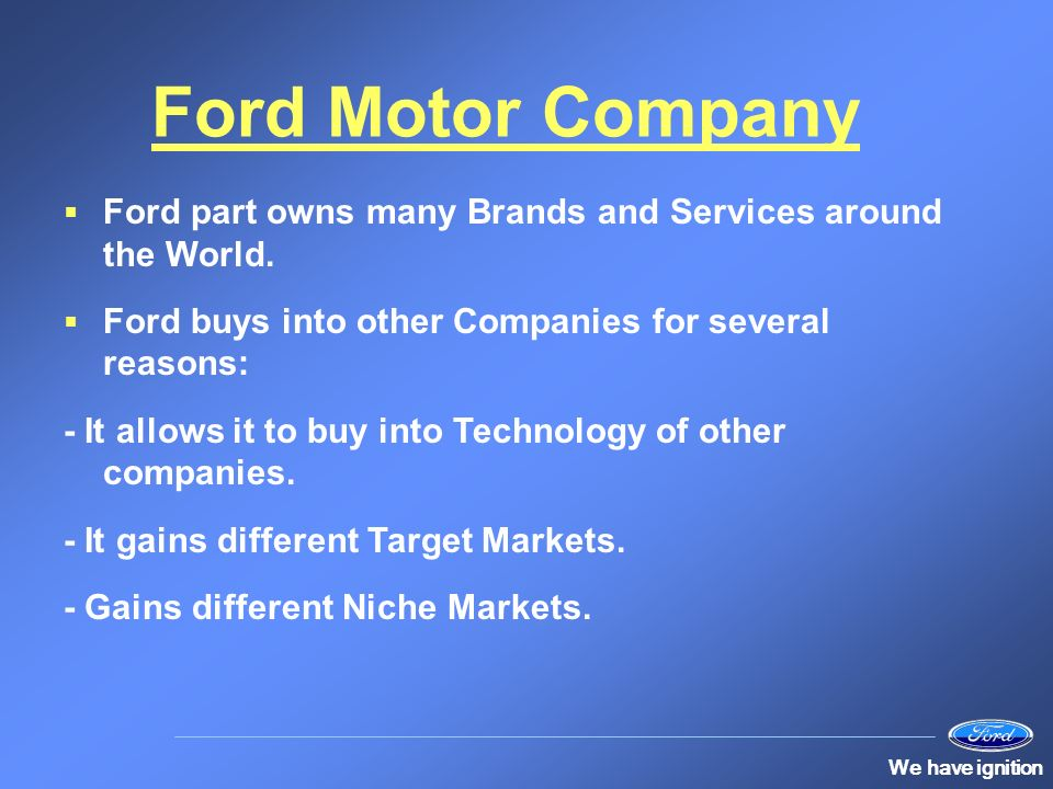 Human resources at ford ppt video online download Ford motor company technology