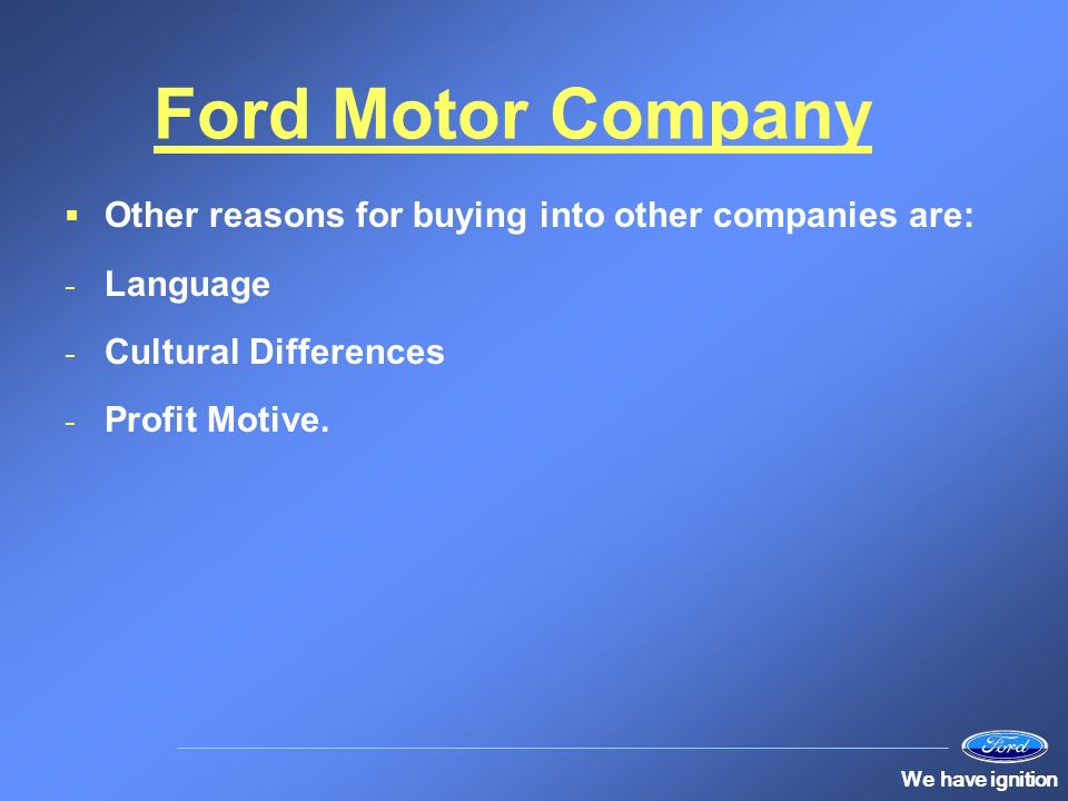 Human resources at ford ppt video online download for Ford motor company human resources