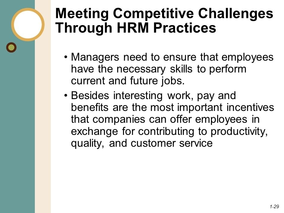 Meeting Competitive Challenges Through HRM Practices