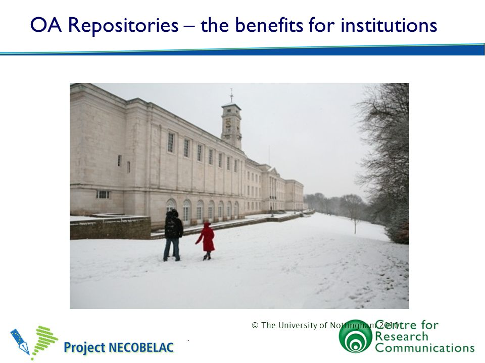 OA Repositories – the benefits for institutions