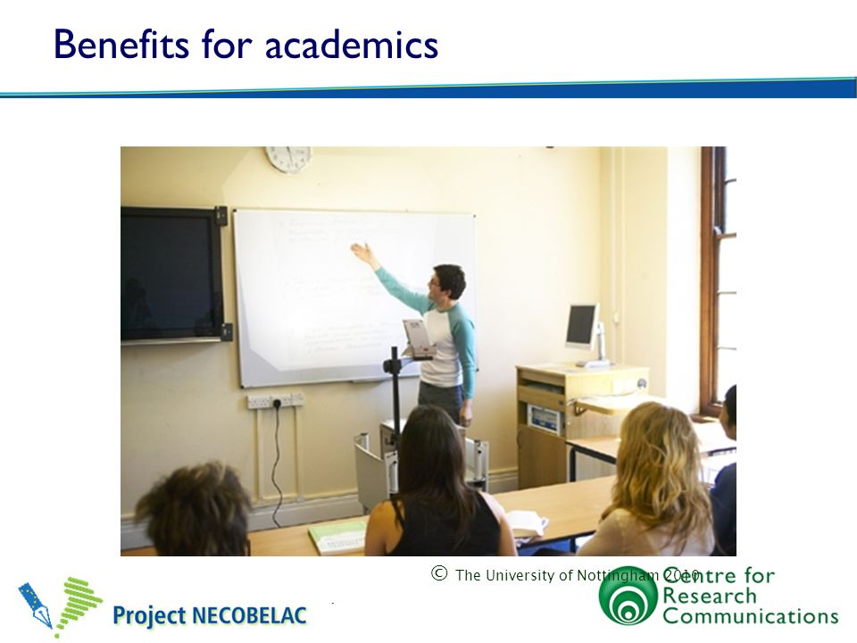 Benefits for academics