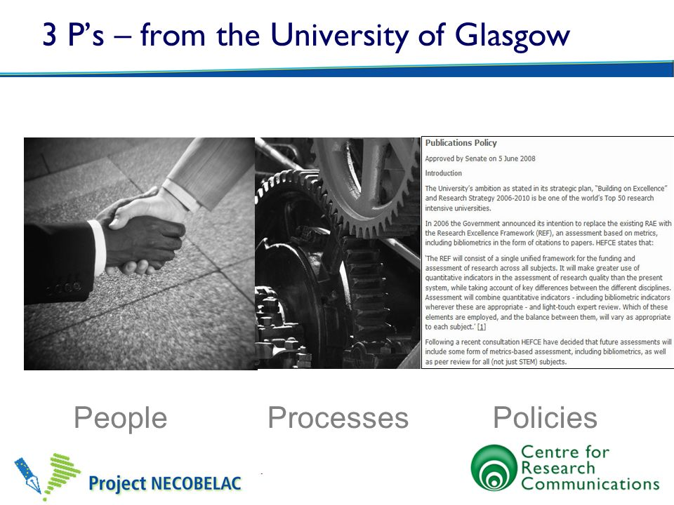 3 P's – from the University of Glasgow