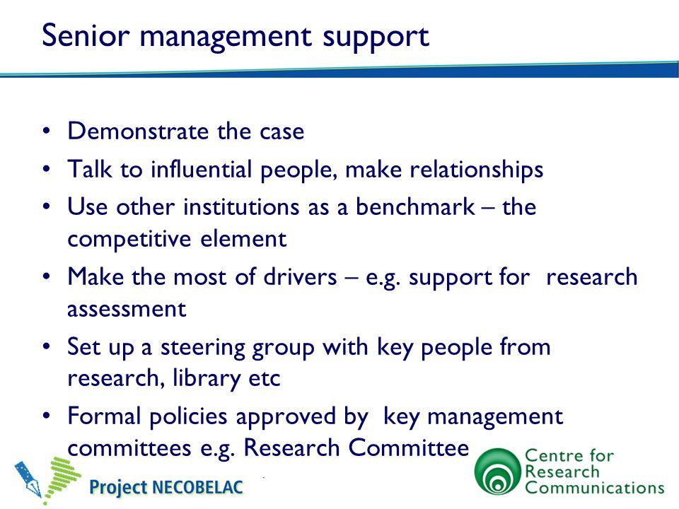 Senior management support