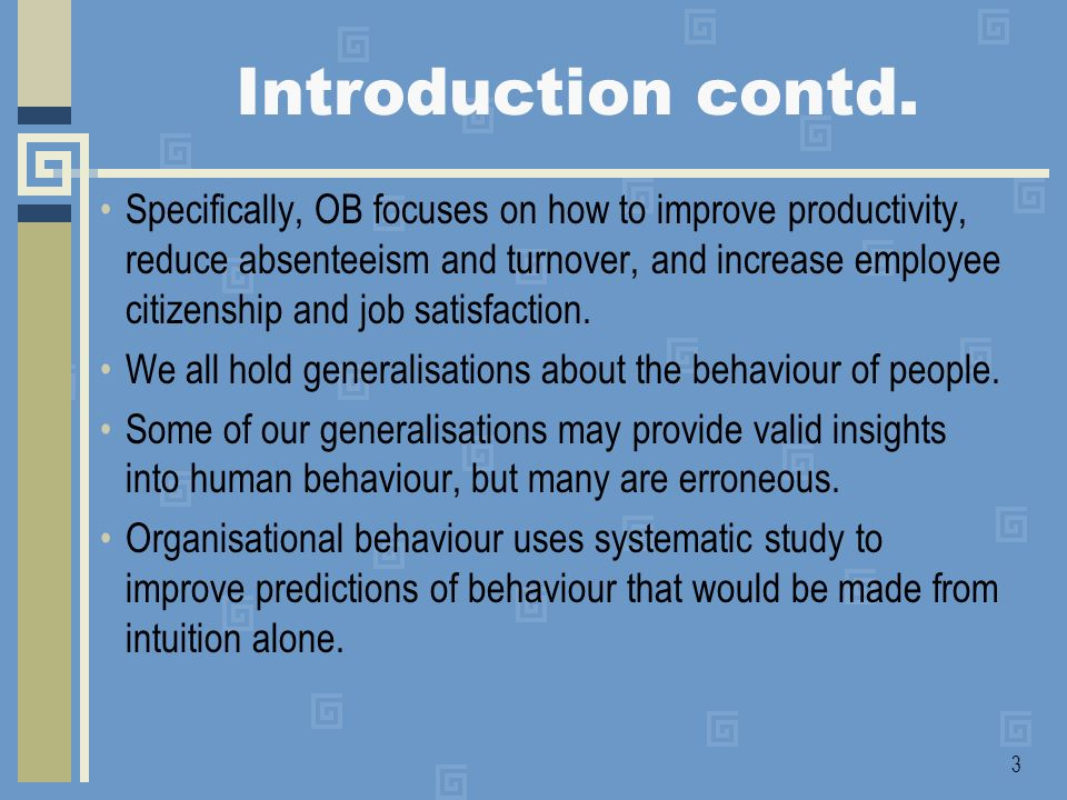 Introduction contd.