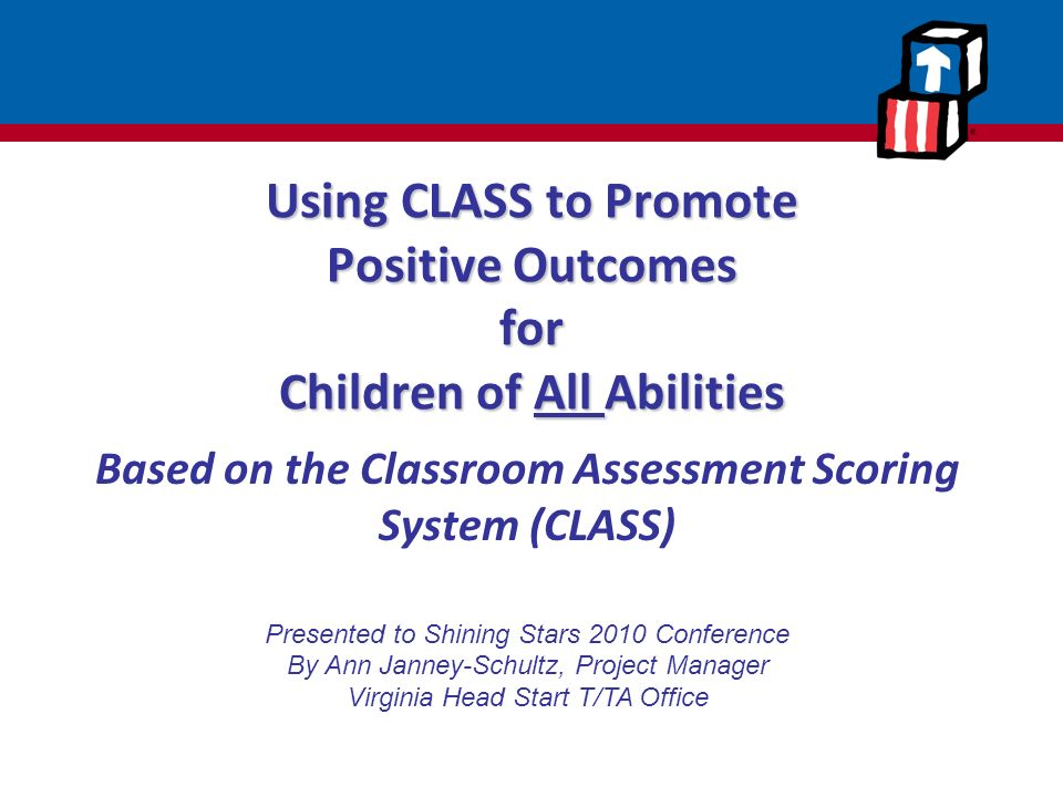 Using class to promote positive outcomes for children of all abilities ppt download - Head of project management office ...