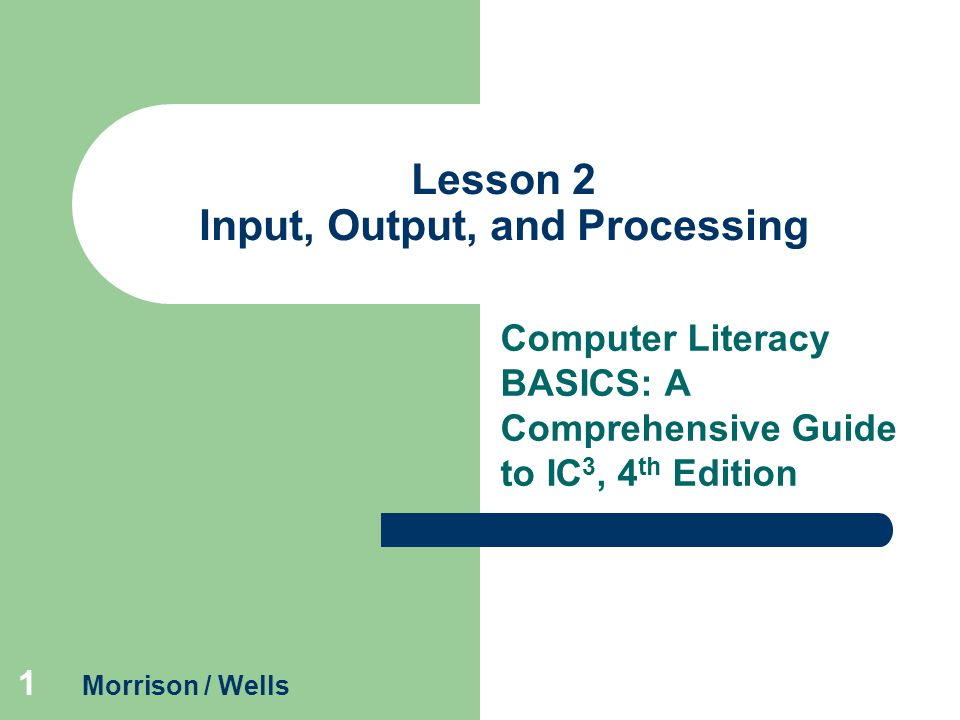 Lesson 2 Input, Output, and Processing