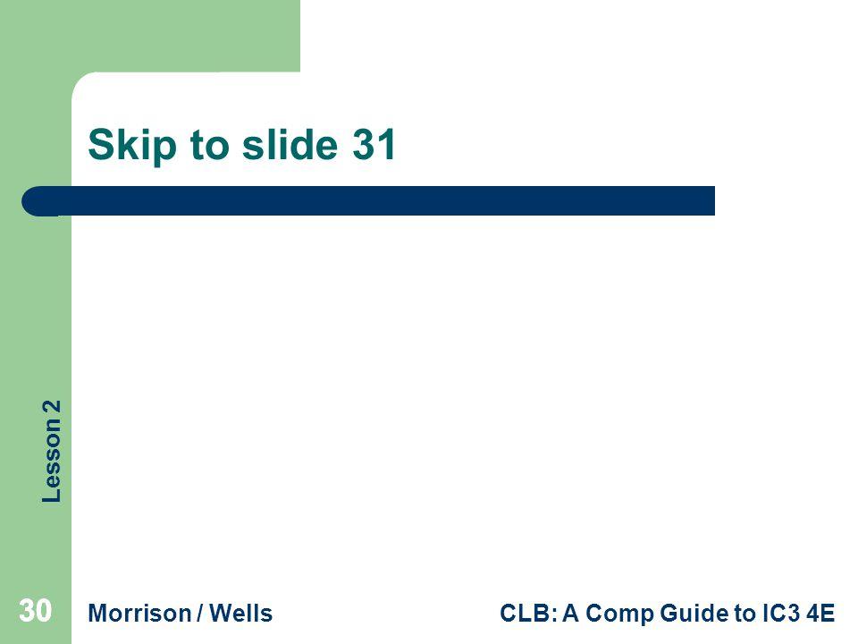 Skip to slide 31 30 30